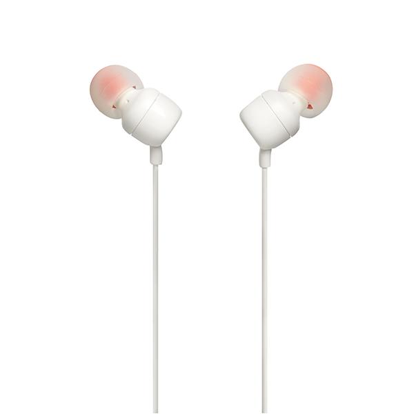 Audífono JBL T110 Alámbrico In Ear Blanco
