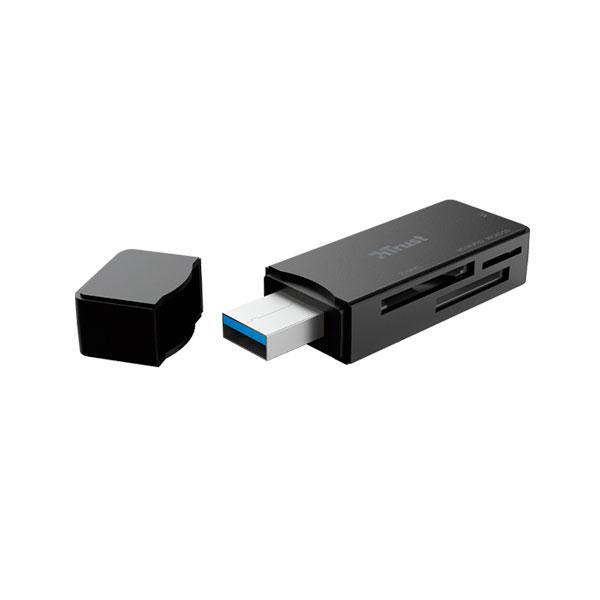 Lector de Tarjetas Trust Nanga USB 3,1 Negro