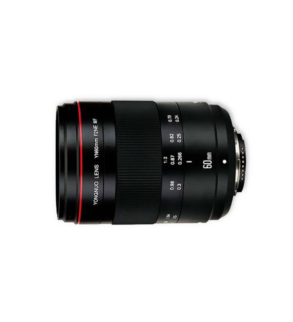 Lente YongNuo 60mm F2 MF Macro Canon