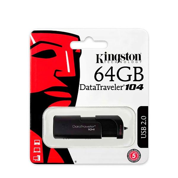 Memoria USB Kingston 64Gb Datatraveler 104 2.0