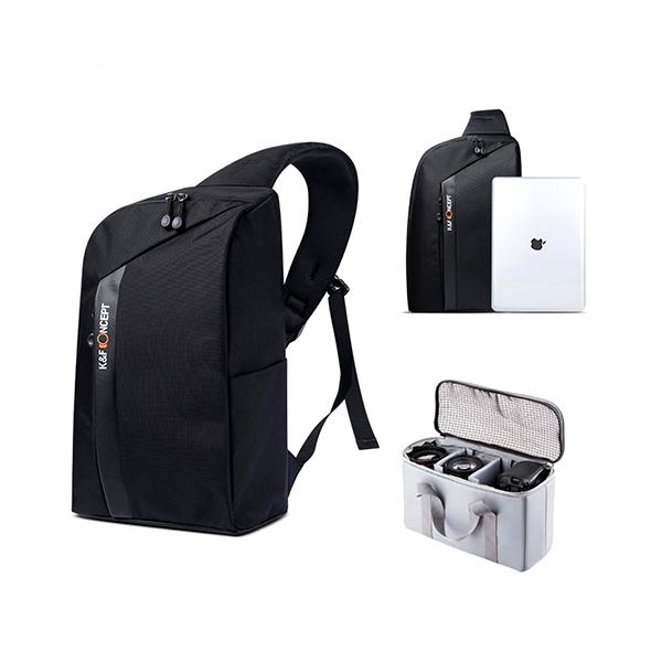 Morral de viaje para cámara DSLR Sling (Canon Nikon) K&F CONCEPT 13.090 Manos Libres