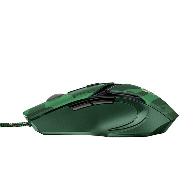Mouse Gamer Trust Gxt 101D Gav Alámbrico Verde Camuflado