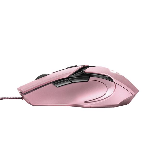 Mouse Gamer Trust Gxt 101 Gav Alámbrico Rosado