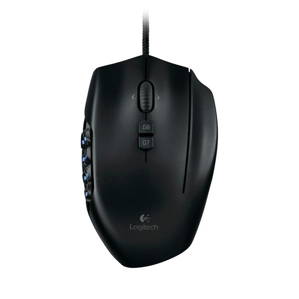 Mouse Logitech G600 Negro RGB MMO Alámbrico