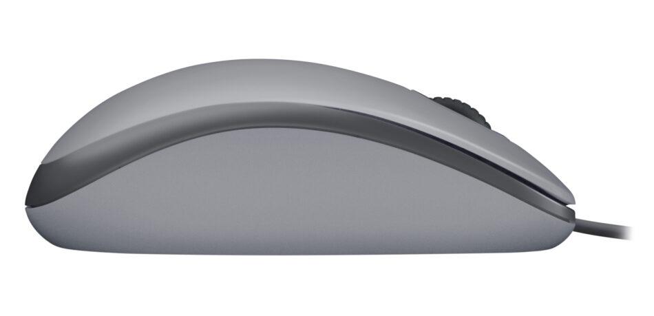 Mouse Logitech M110 Silent Plata Alámbrico