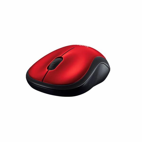 Mouse Logitech M185 Rojo Inalámbrico