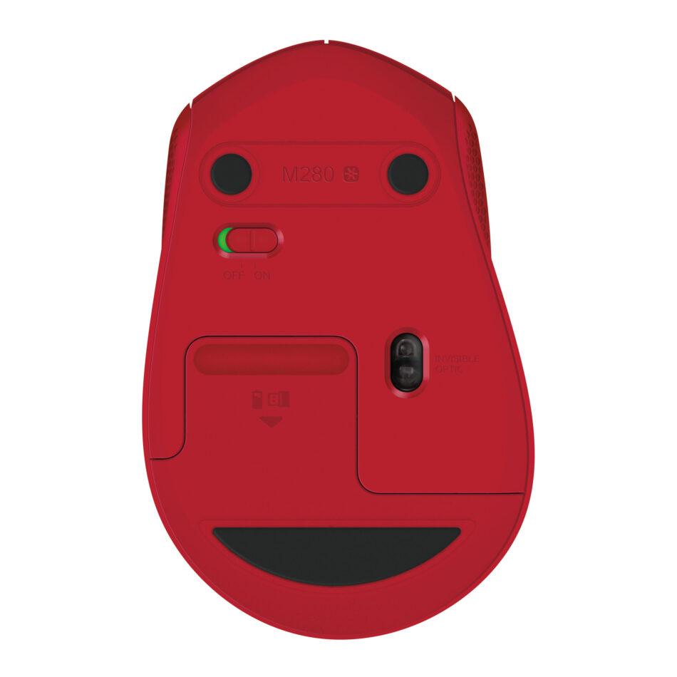 Mouse Logitech M280 Rojo Inalámbrico