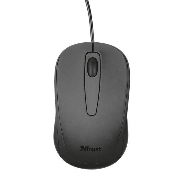 Mouse Trust Ziva Compact Alámbrico Negro