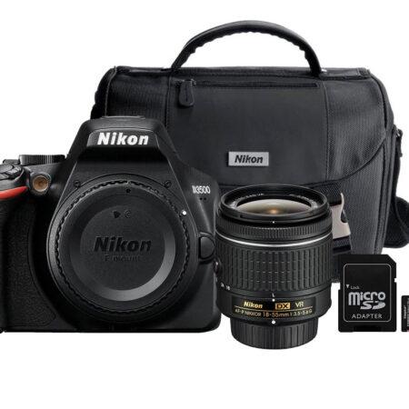 Cámara Nikon D3500 (18-55mm) (Maletin + Memoria micro SD 16GB )
