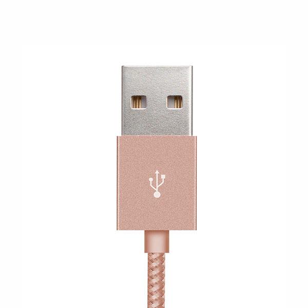 Cable Lightning A USB Klip Extreme 1.6FT 0.5M Oro Rosa