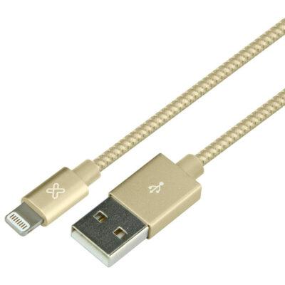 Cable Lightning A USB Klip Xtreme 1.6FT 0.5M Dorado