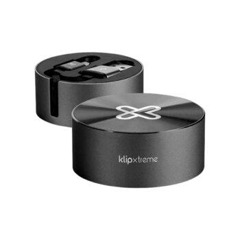 Cable retráctil USB Tipo-C Klip Extreme Negro