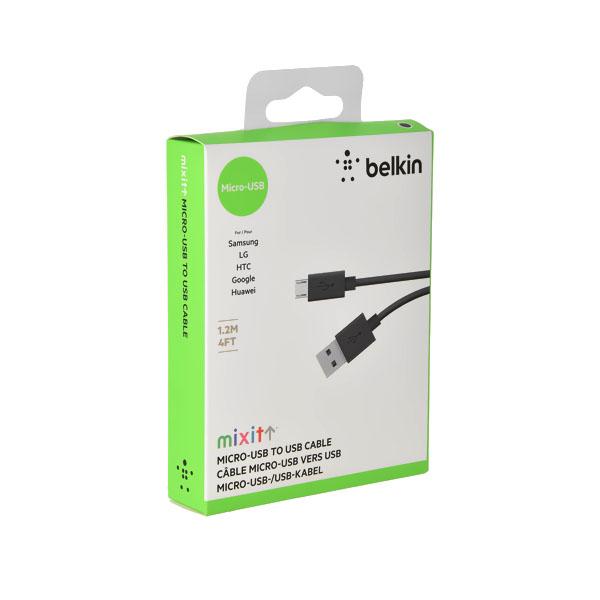 Cable de carga y sincronización micro-USB MIXIT 1.2 mtrs. Negro
