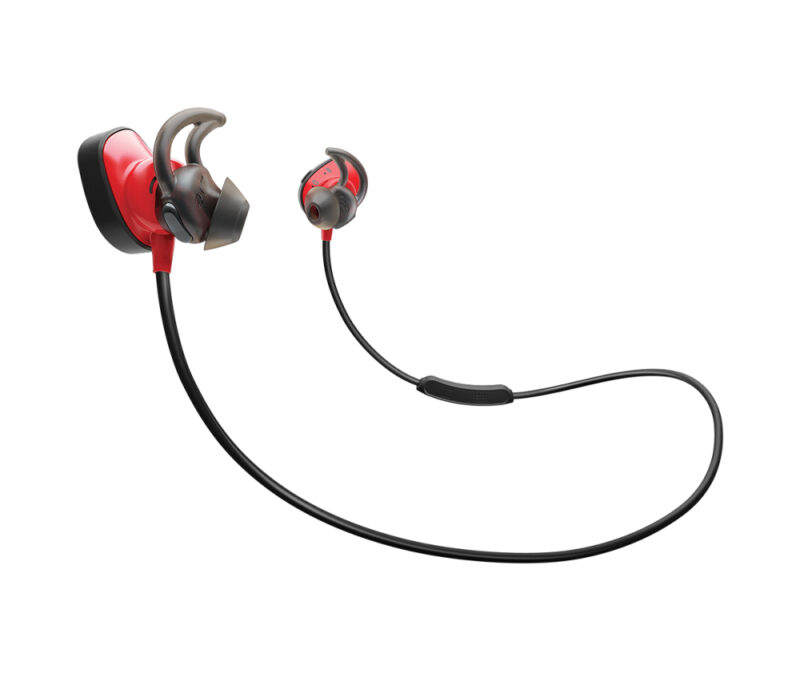 Audífono Bose Soundsport Pulse Negro/Rojo