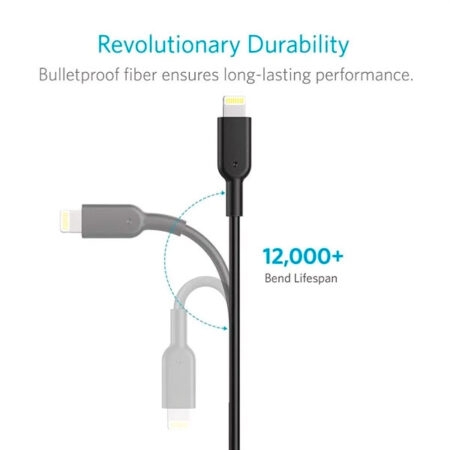 Cable Anker Powerline II Lightning A USB A8432H11 Negro
