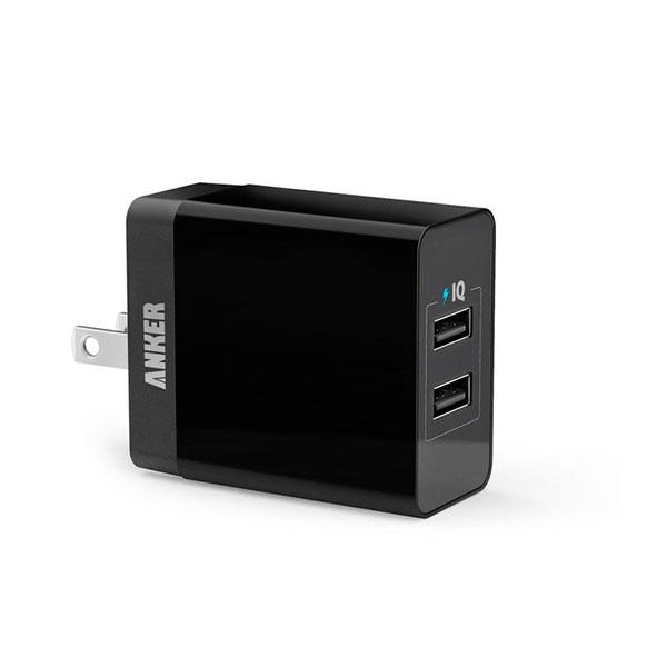 Cargador Anker Pared Negro PowerPort 2 Lite Puertos USB A2129J11