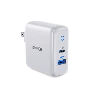 Cargador Pared Blanco Anker PowerPort PD+2 USB-A-USB-C- A2626JD1