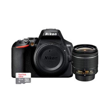 Cámara Nikon D3500 (18-55mm) ( Memoria Micro SD Sandisk)